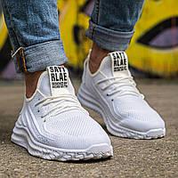 Мужские стильные белые кроссовки на белой подошве Размеры 43,44,45,46, фото 1