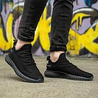 Мужские кроссовки черные в стиле Adidas Размеры 40,41,42, фото 1