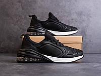 Мужские черные кроссовки в стиле Nike Air Max 270 обувь мужская демисезонная, фото 1