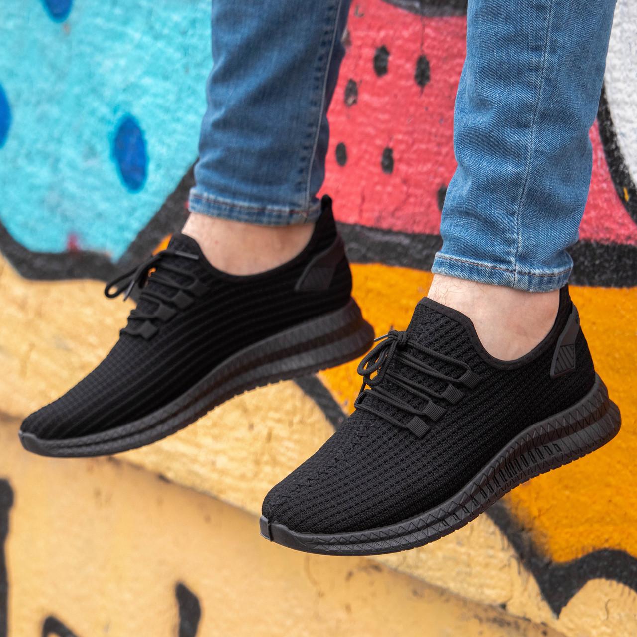 Мужские стильные черные кроссовки Размер 40,41,42,43,45