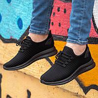 Мужские стильные черные кроссовки Размер 40,41,42,43,45, фото 1