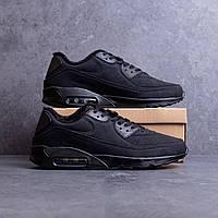 Мужские Зимние Черные Кроссовки в стиле Air Max обувь с Мехом Размеры 43,44,45, фото 1