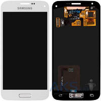 Дисплей (экраны) для телефона Samsung Galaxy S5 mini G800F + Touchscreen Original White