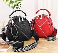Женская маленькая сумка рюкзак Прада. Мини сумочка рюкзачок женский 2 в 1 в стиле Prada
