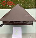 """Колпак на столб высокий, колпаки на забор, колпак для столба """"LOFTY"""" , колпак на столб забора, крышка, формы, фото 4"""