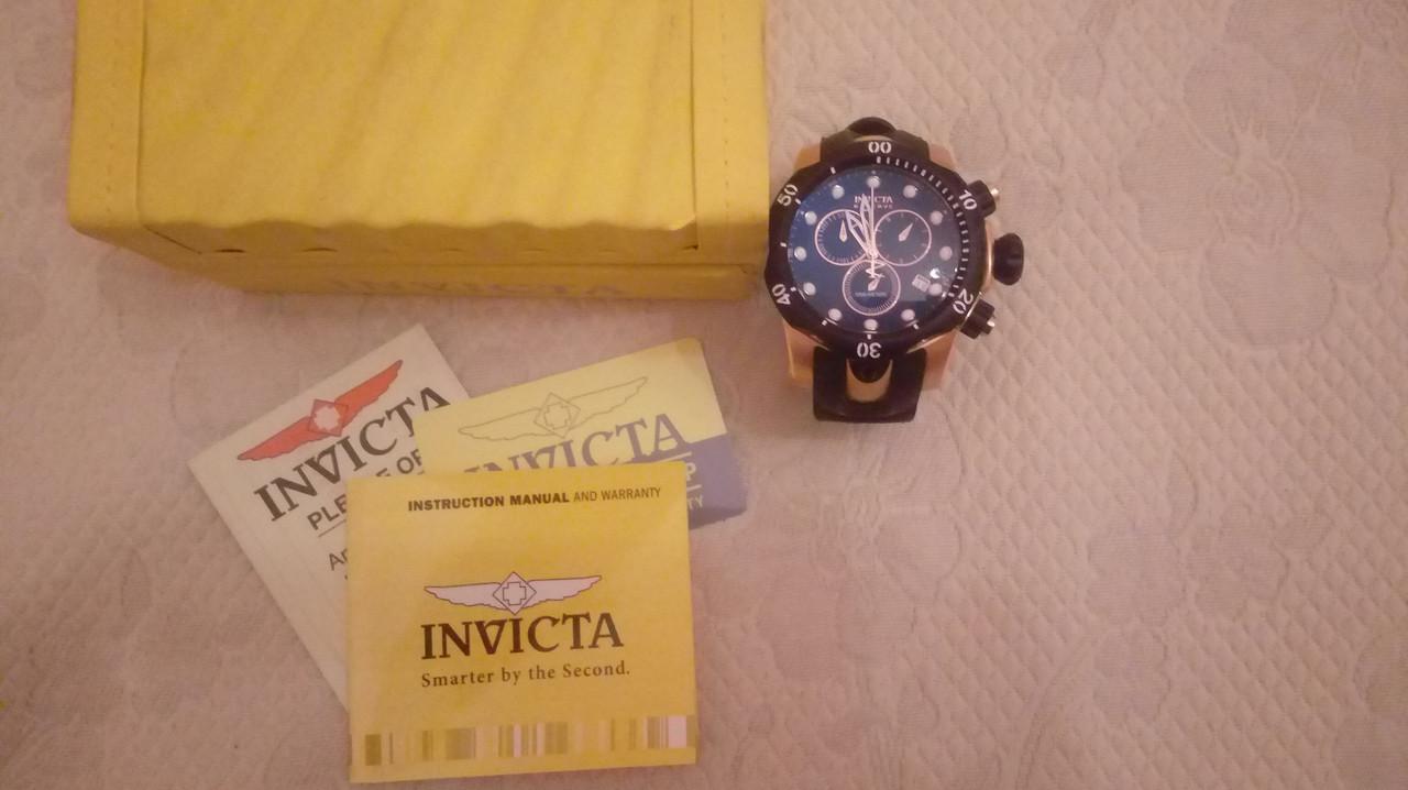 Швейцарские часы Invicta 5733 Venom Reserve ETA Rose Gold Swiss. 1000 метров