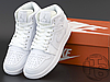 Мужские кроссовки Air Jordan 1 Mid Triple White 554724-109, фото 2