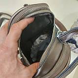Модная женская кожаная сумка клатч Bronze, фото 4