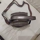 Модная женская кожаная сумка клатч Bronze, фото 6
