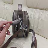 Модная женская кожаная сумка клатч Bronze, фото 9