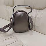 Модная женская кожаная сумка клатч Bronze, фото 3