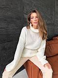 Женский мягкий удлиненный , полушерстяной свитер-туника, фото 8