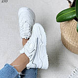 Кроссовки женские белые 5777, фото 2