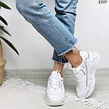 Кроссовки женские белые 5777, фото 3