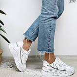 Кроссовки женские белые 5777, фото 4