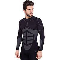 Термобелье мужское футболка с длинным рукавом (лонгслив) Zelart CO-2194 размер L-XL (полиэстер, нейлон,