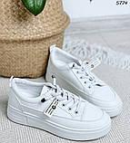 Кроссовки женские белые 5774, фото 3
