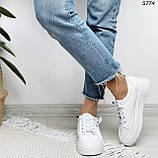 Кроссовки женские белые 5774, фото 4