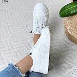 Кроссовки женские белые 5774, фото 5