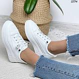 Кроссовки женские белые 5774, фото 7