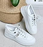 Кроссовки женские белые 5774, фото 8