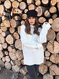 Женский мягкий удлиненный  свитер-туника размер единый, фото 3
