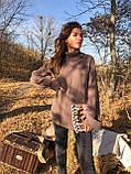 Женский мягкий удлиненный  свитер-туника размер единый, фото 4
