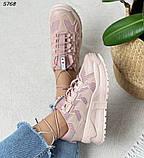 Кроссовки женские розовые 5768, фото 2