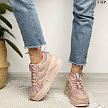 Кроссовки женские розовые 5768, фото 3