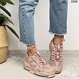 Кроссовки женские розовые 5768, фото 6