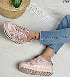 Кроссовки женские розовые 5768, фото 7