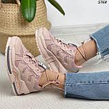 Кроссовки женские розовые 5768, фото 8