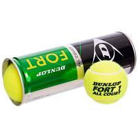 Мяч для большого тенниса DUNLOP (3шт) 601315 FORT ALL COURT (в вакуумной упаковке) Код 601315