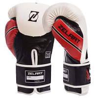 Перчатки боксерские PU на липучке ZELART BO-1323 (р-р 10-14oz, цвета в ассортименте) Код BO-1323