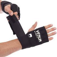 Перчатки с бинтом внутренние гелевые из неопрена VENUM VN0181 KONTACT GEL GLOVE WRAPS (манжет на липучке,