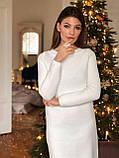 Женское крутое вязаное платье свободного кроя, фото 2