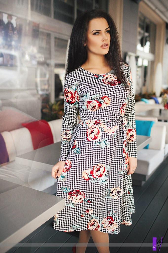 Платье юбка миди цветы