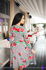 Платье юбка миди цветы , фото 2