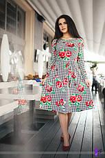 Платье юбка миди цветы , фото 3