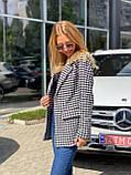Женский стильный пиджак удлиненный в полоску, фото 3