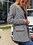 Женский стильный пиджак удлиненный в полоску, фото 4