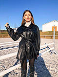 Женская кожаная  рубаха - маст хэв этого сезона из эко-ожи, фото 6