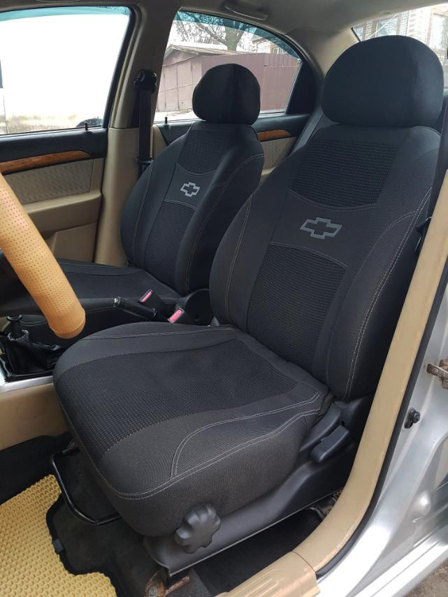 Чехлы на сиденья автомобиля CHEVROLET AVEO hatchback 2002-2011 з/сп и сидение цельная; закрытый тыл;