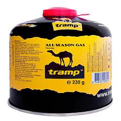 Балон газовий Tramp TRG-003 з різьбовим з'єднанням (230г), всесезонний