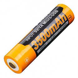Літієвий акумулятор Li-Ion 18650 Fenix ARB-L18-3500U 3.6 V (3500mAh, USB)