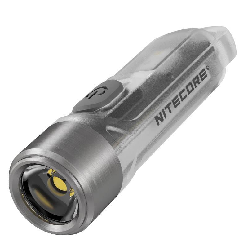Фонарь наключный Nitecore TIKI (Osram P8 LED + UV, 300 люмен, 7 режимов, USB), прозрачный