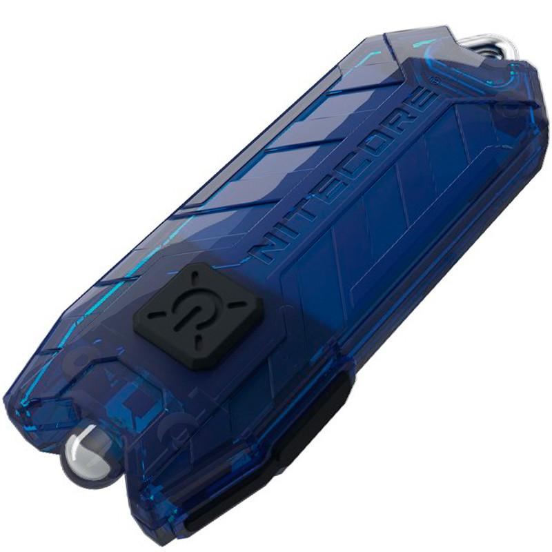 Ліхтар наключный Nitecore TUBE v2.0 (1 LED, 55 люмен, 2 режими, USB), синій