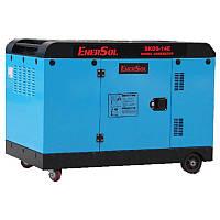 Дизельный  генератор  EnerSol  однофазный  SKDS-14E(B)