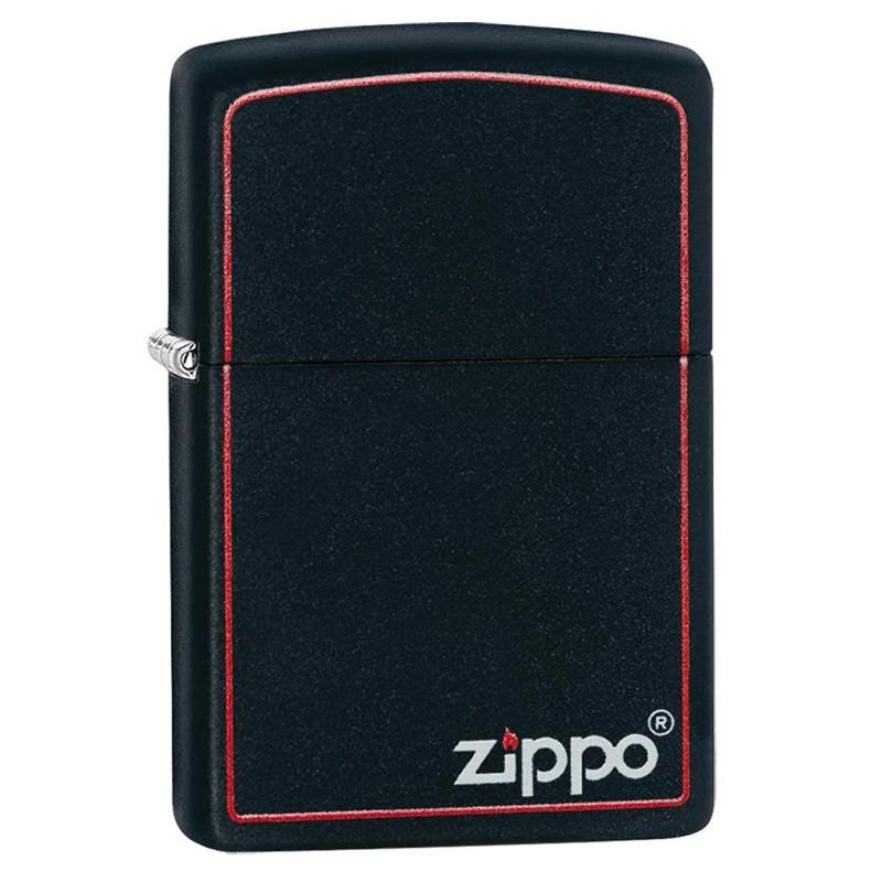 Зажигалка Zippo Black Matte with Border, 218ZB