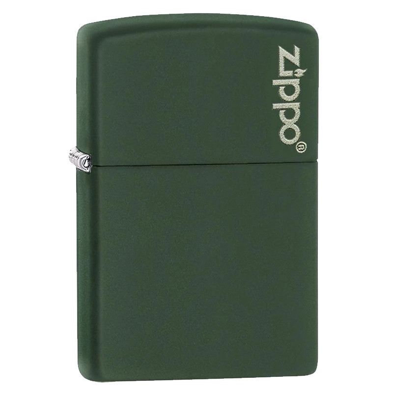 Зажигалка Zippo Green Matte with Logo, 221ZL